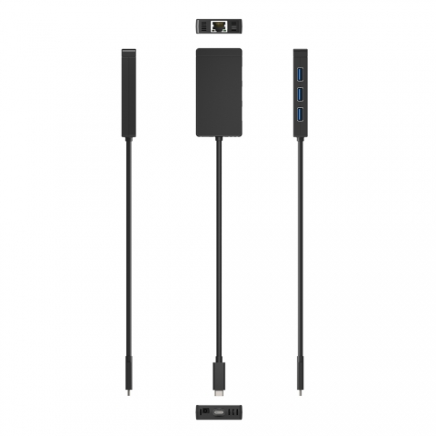 C3-H9047 USB-C to 3-Port USB 3.0 and Gigabit Ethernet Hub 5